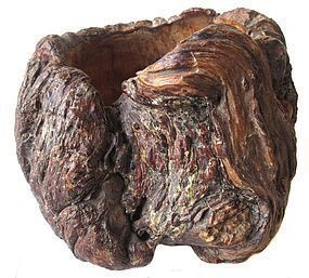 Antique Japanese Burl Container