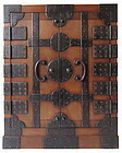 Stunning Extremely Rare Japanese Castle Safe Tansu