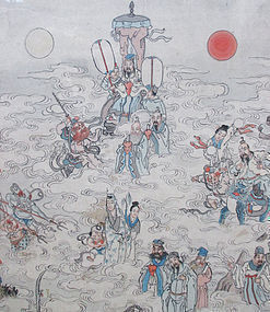 Chinese Antique Painting of Taoist Immortals