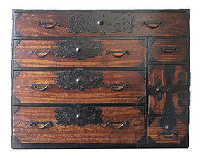 Japanese Edo Period Isho Tansu from the Sendai Area