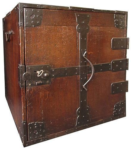 Antique Japanese Safe Box