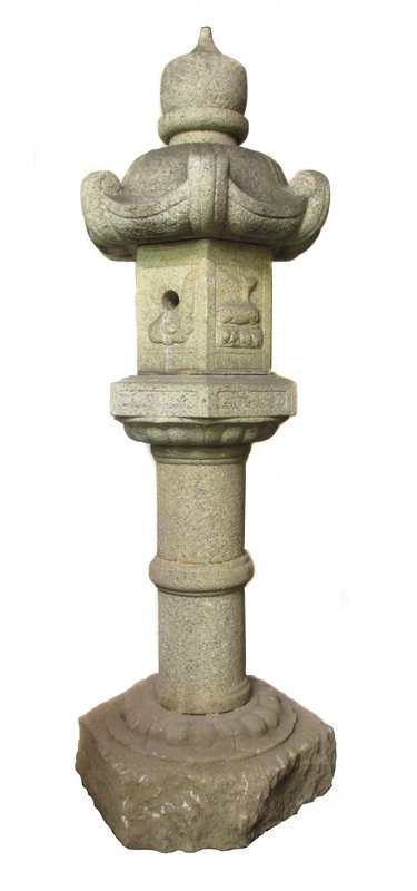 Large Japanese Early 19th Century Tall Stone Lantern