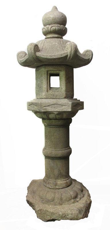 Japanese 19th Century Stone Temple Lantern
