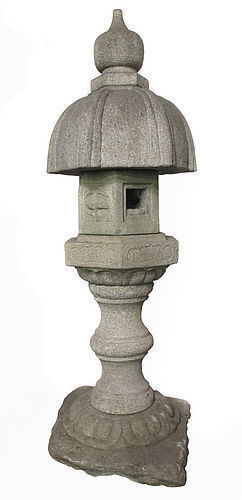 Japanese Early 19th Century Stone Temple Lantern