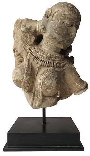 Archaic Indian Stone Statue Fragment