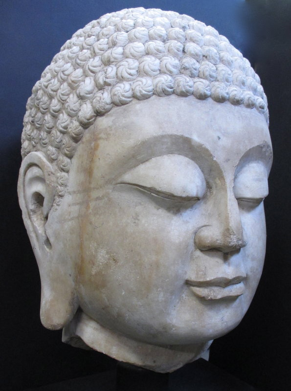 Massive 18th Century Chinese Marble Buddha Head