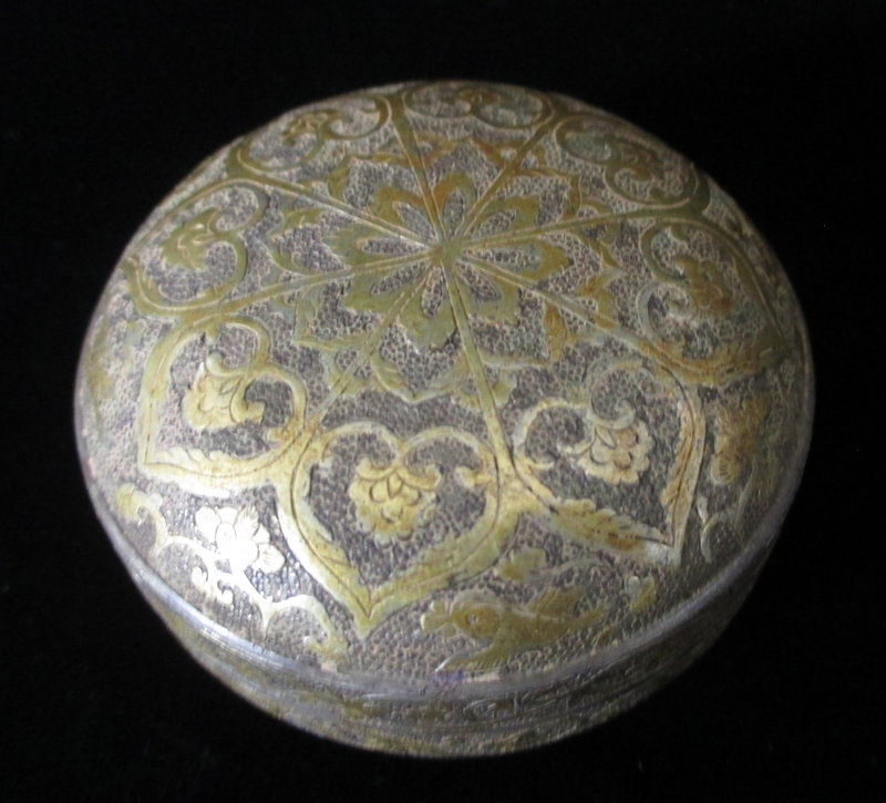Chinese Small Silver and Gold Tang Dynasty Box