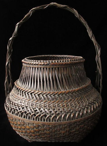 Antique Japanese Ikebana Basket signed Ko-Sho