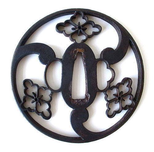 Japanese Iron Edo Period Tsuba