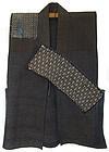 Antique Japanese Embroidered Indigo Sled Vest