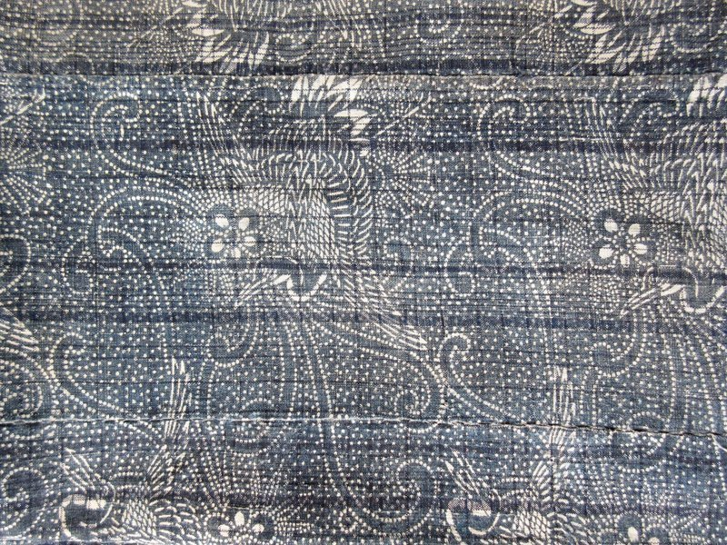 Antique Japanese Izumi Fabric with Cranes