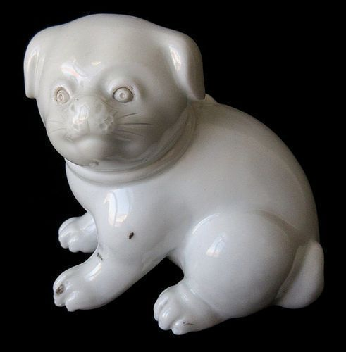 Antique Japanese Hirado Ware Puppy