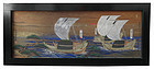 Incredible Antique Japanese Shinto Ema Painting