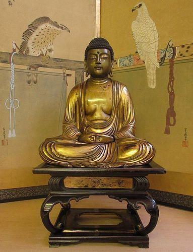 Japanese Edo Gilt Lacquered Buddha