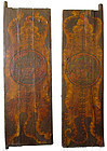 Unique Pair of 18th Century Tibetan Painted Doors