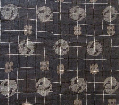 Rare 19th Century Japanese Ikat Egasuri Fabric