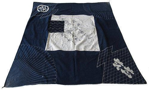 Antique Japanese Indigo Cotton Fabric