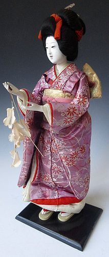 Antique Japanese Geisha Doll