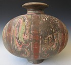 Chinese Han Dynasty Cocoon Vase