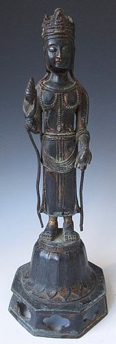Antique Korean Bronze Quanyin