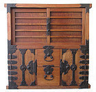 Rare Japanese Edo Period Keyaki Choba from Mikuni