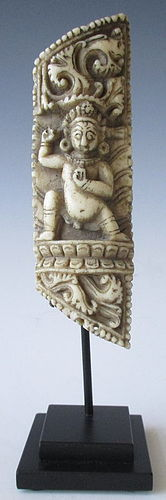 Antique Tibetan Bone Carving from a Shaman's Robe