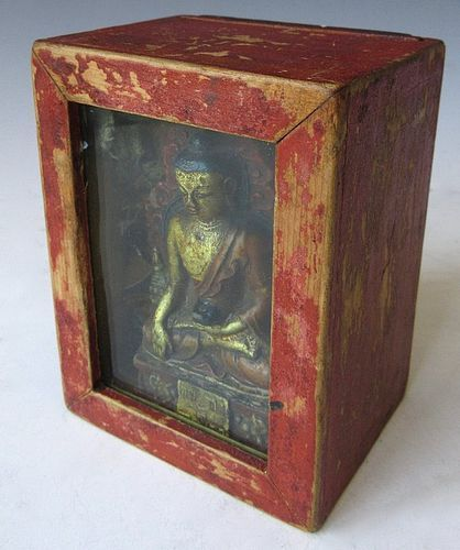 Antique Tibetan Gau Portable Buddhist Shrine