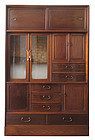 Antique Japanese Cha Tansu with Glass Doors