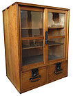 Antique Japanese Glass Door Tansu