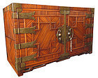 Unusual Korean Chest with Persimmon Interior