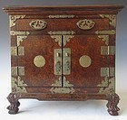Antique Korean Burl Vanity Box