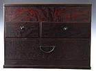 Antique Japanese Burl Vanity Box