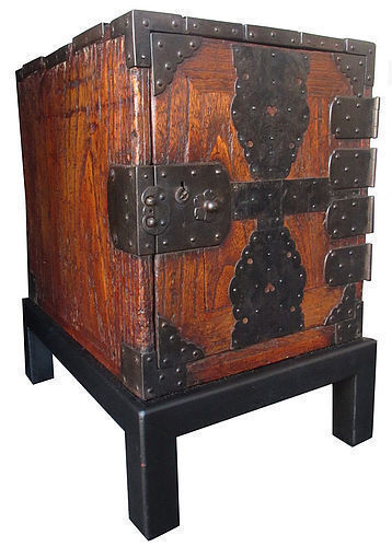 Antique Japanese Fune Bako w/ Stand