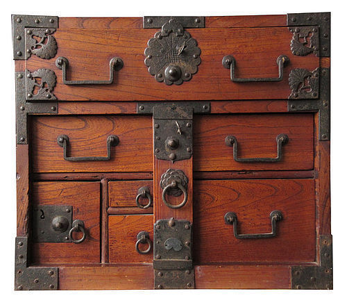 Antique Japanese Keyaki Fune Tansu - Japanese, Furniture From The Zentner Collection Of Antique Asian Art