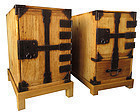 Antique Japanese Pair of Gyosho Bako w/ Stands