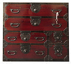 Small Antique Japanese  Tansu