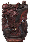 Antique Chinese Carved Wood Temple Wall Corbel