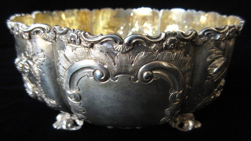 Antique Japanese Sterling Silver Dish