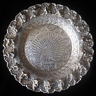 Antique Burmese Sterling Silver Dish