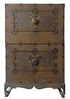 Rare Antique Korean Shagreen Stacking Cabinet (Ichung-Nong)