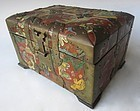 Antique Korean Painted Horn Box