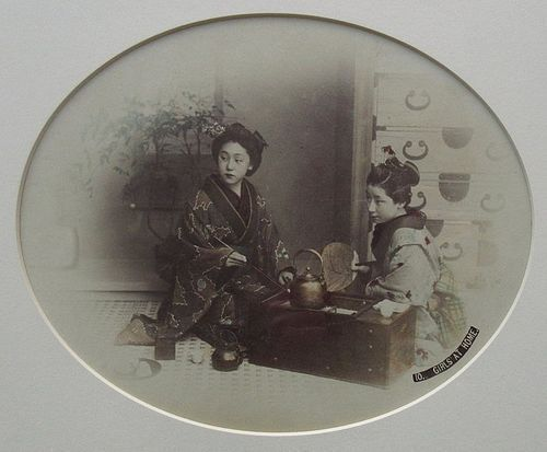 Antique Japanese Framed Albumen Print