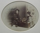 Antique Japanese Framed Abumen Print