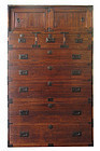 Antique Japanese 3-Section Isho Tansu