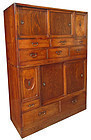 Antique Japanese 2-Section Cha Tansu