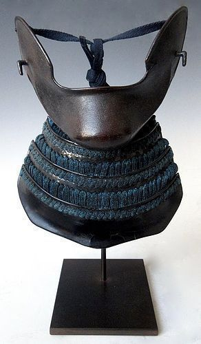 Antique Japanese Saru Bo Armored face Protection