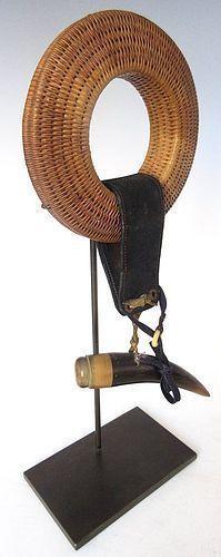 Antique Japanese Yumi Rattan Bow String Holder (Tsurumaki)