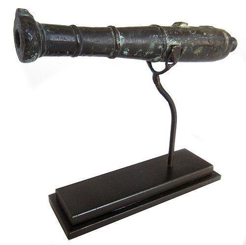 Antique Japanese Hiya Tantsusu Long Barrel Bronze Cannon
