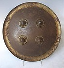 Antique Indian Gold Damascene Shield