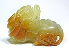 Chinese Small Soapstone Dragon Toggle